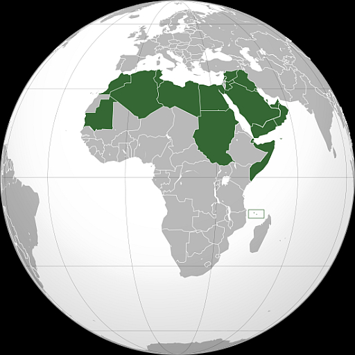 Map of Arab League countries