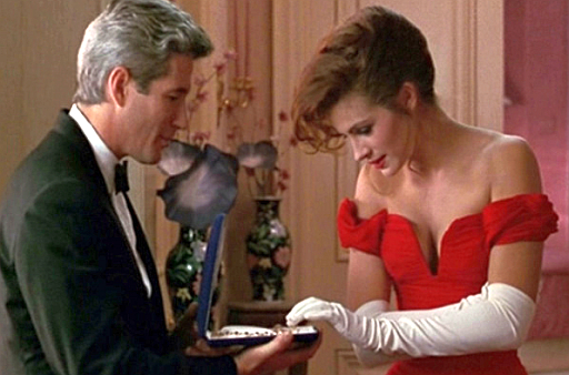 Julia Roberts plays a prostitute in the film Pretty Woman