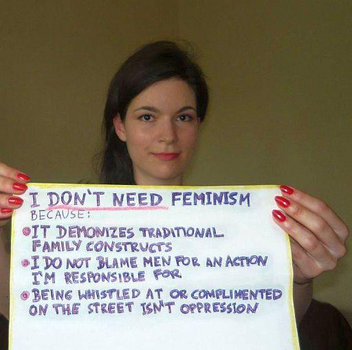 I don't need feminism