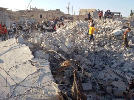 10 civilians, among them 6 children, killed in Idlib in last night's airstrikes