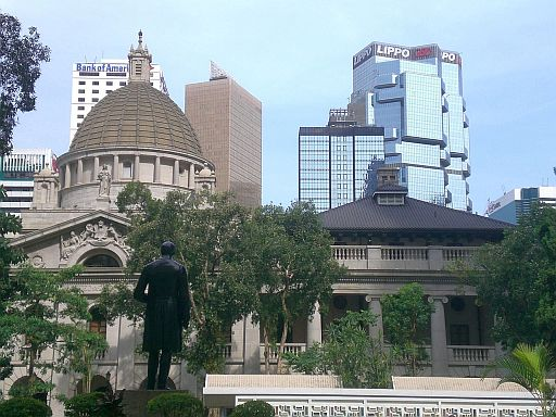 Hong Kong_Central_Statue_Square_Legislative_Council_Building_n_Neoclassicism_n_Lippo_Centre
