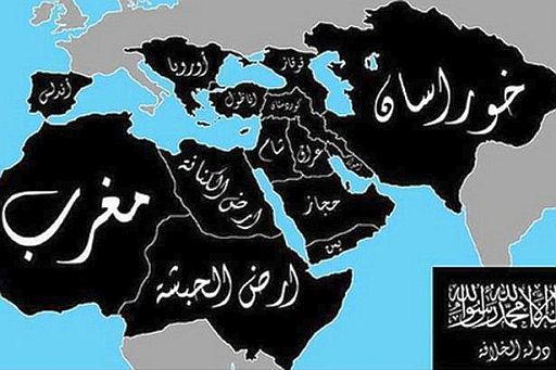 Islamic State map of their intended Caliphate