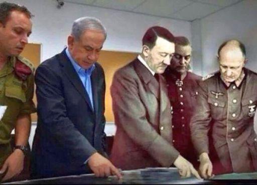 Israel Netanyahu with Hitler 512