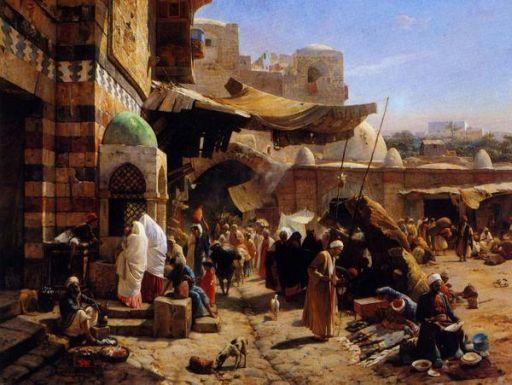 Palestine Market, Jaffa 1827 512