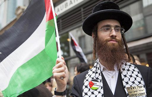 Israeli Jew with Palestine flag 512