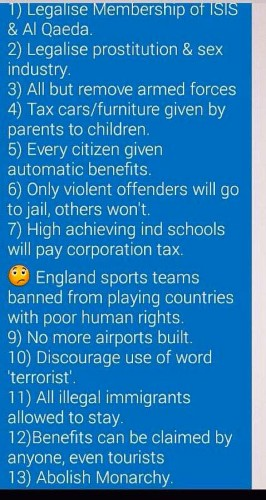 Some great Green Party policies
