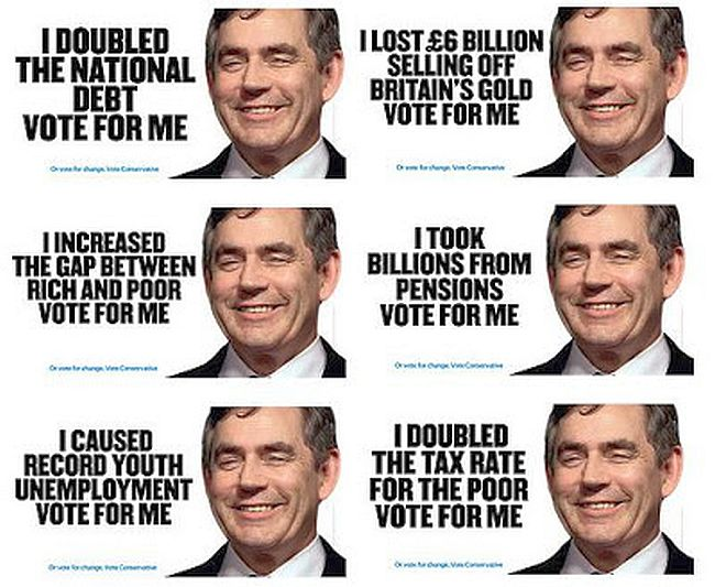 Labour. Gordon Brown. Vote for me. 650
