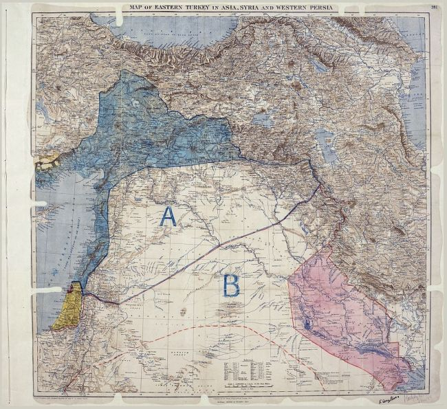 The original Sykes Picot map