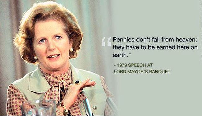 Thatcher. Pennies from heaven 650
