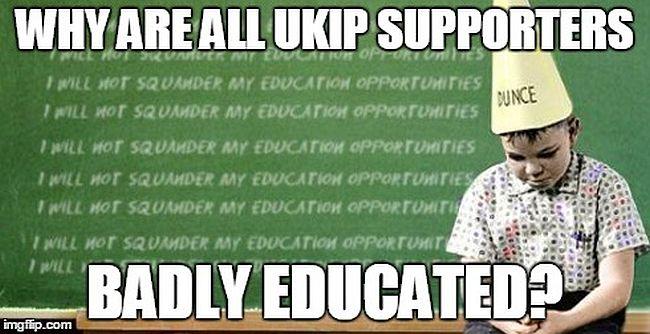 UKIP badly educated 650