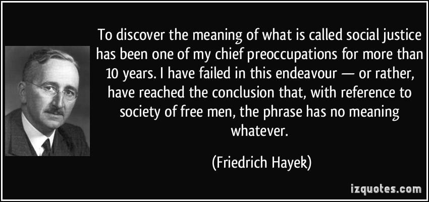 Social Justice Hayek