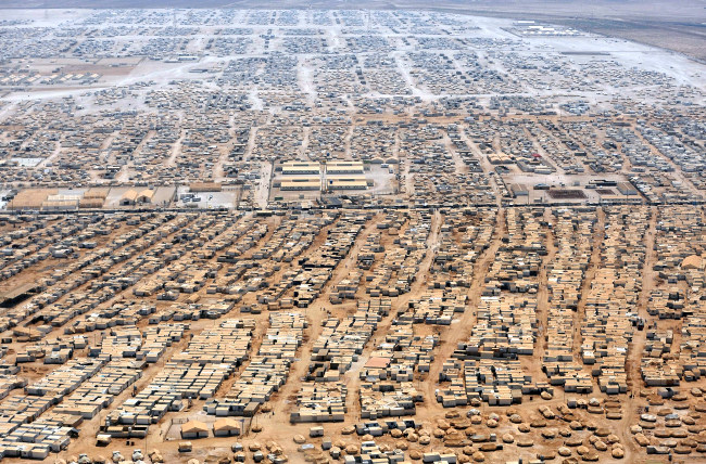 Millions of refugees living in tent cities in the desert