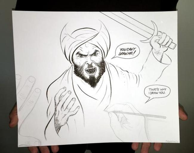 Islam Mohammed Cartoon 650