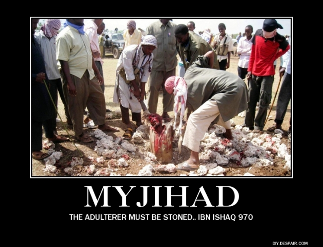 Islam adulterer stoned 650