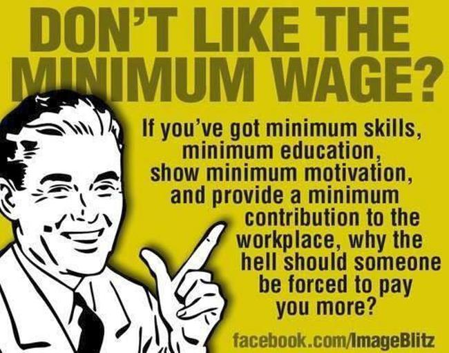 Minimum wage 650