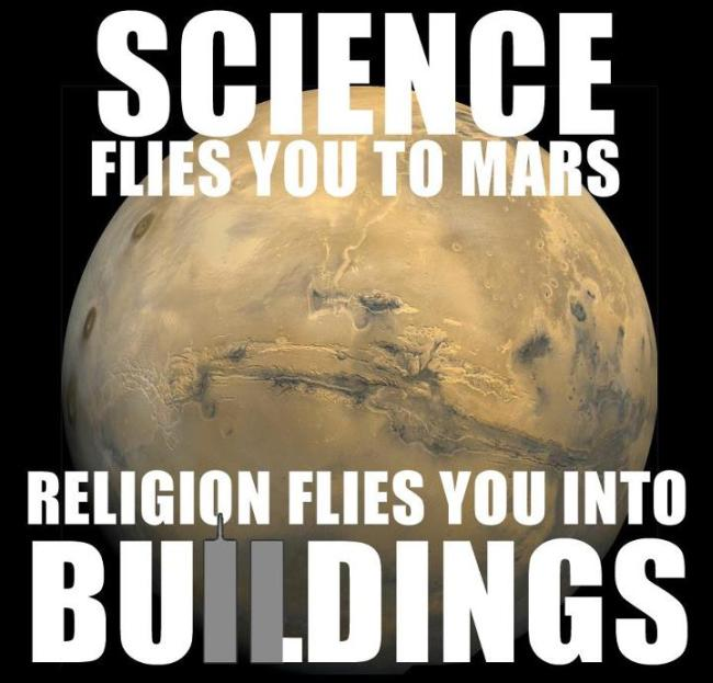 Religion flied you into buildings