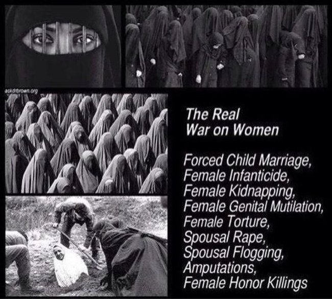 Islam war on women 650