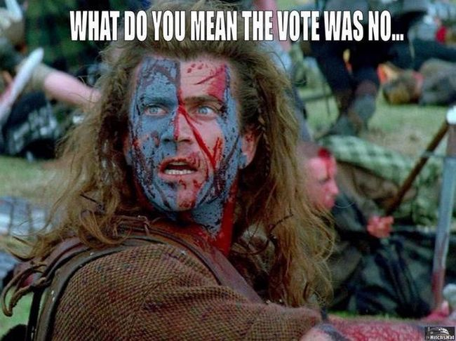 Scotland. The vote was NO 650