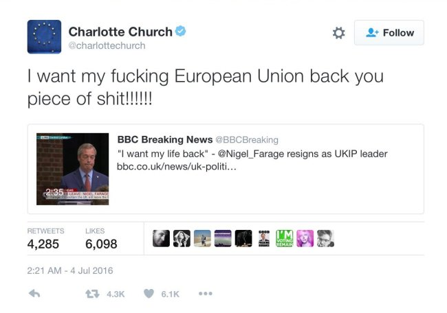 Charlotte Church Tweet 650